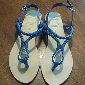dolce vita blue sandals size 8
